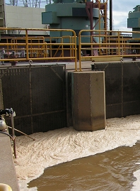 dirty_foam in a cooling tower at a fossil fuel plant